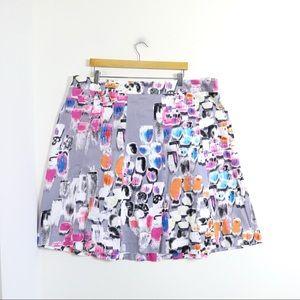 Lane Bryant abstract print cotton mini skirt plus